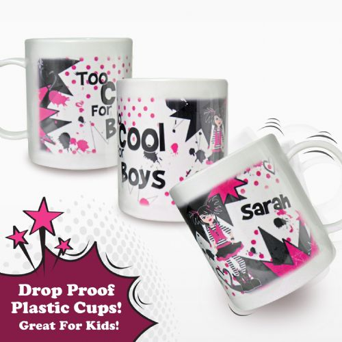 Personalised Too Cool Girl Plastic Cup